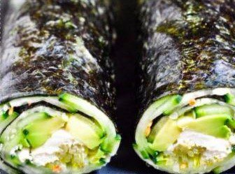 QUICK NORI ROLL WITH CUCUMBER & AVACADO